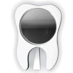 Espelho de Mesa Redondo em Forma de Dente Molar