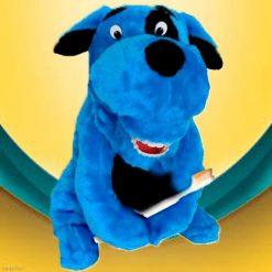 Fantoche Dentário Pelúcia Luxo com Macro Arcada - Cachorro Azul